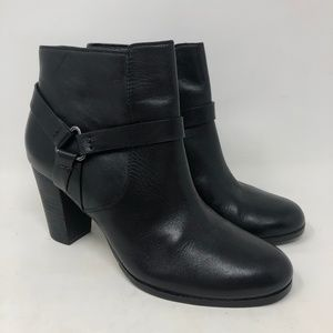 Cole Haan Black Leather Heeled Ankle Boots 6.5